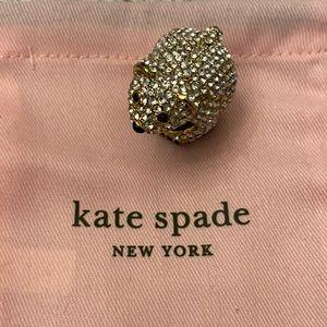 EUC Kate Spade polar bear ring. Size 6.